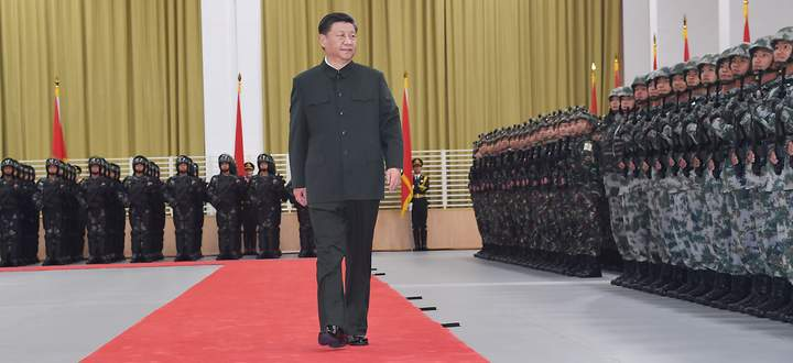 Chinas Staats- und Parteichef Xi Jinping steht wegen der Situation in Xinjiang, Hongkong und Taiwan unter Druck.