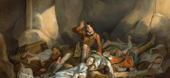 Der österreichische Maler Adam Brenner hat festgehalten, wie der liebe Augustin in der Pestgrube erwacht.