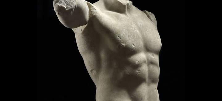 Vor allem die Römer liebten weißen Marmor: Büste eines nackten Mannes, 1. Jh. v. Chr.