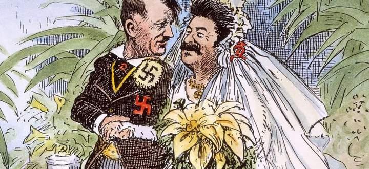 """US-Karikatur: """"Wonder how long the honeymoon will last?"""""""