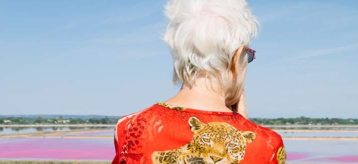 """Das Foto zum zweiten Lockdown von Stefanie Moshammer: """"2021 voraus, 2020 am Rücken"""" (Ausschnitt)."""