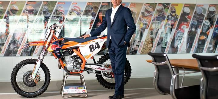 Stefan Pierer, Vorstandschef von Pierer Mobility (KTM, Husqvarna) in seinem Büro in Mattighofen in Oberösterreich.