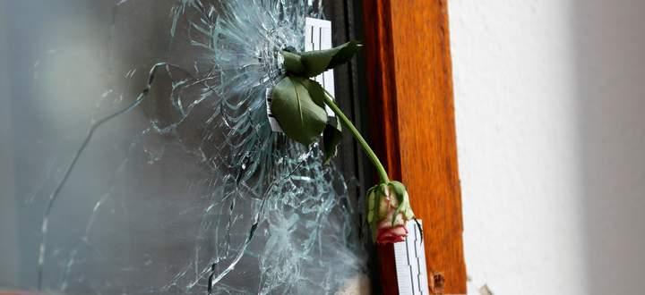 """""""Die Gesellschaft muss sich viel stärker mobilisieren"""": Blume in einem Einschussloch vom 2. 11."""