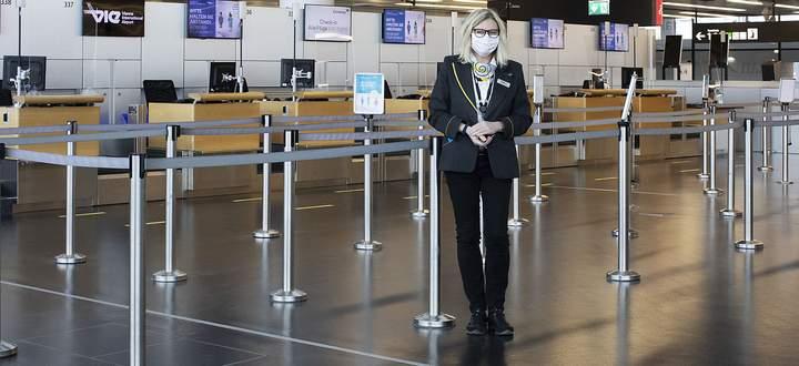Coronavirus Reportage Flughafen Wien