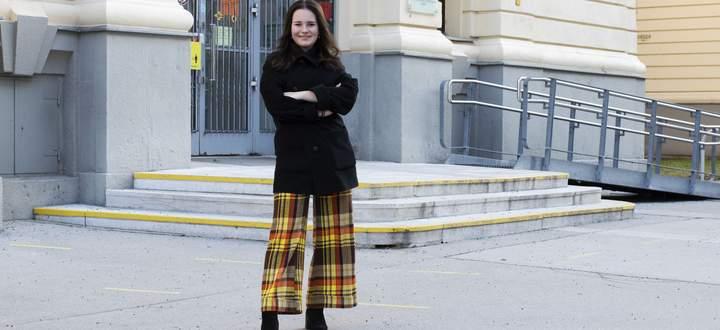 Alina Sablatnig freut sich, wenn sie wieder durch das Schultor des BRG Boerhaavegasse im dritten Bezirk in Wien spazieren kann.