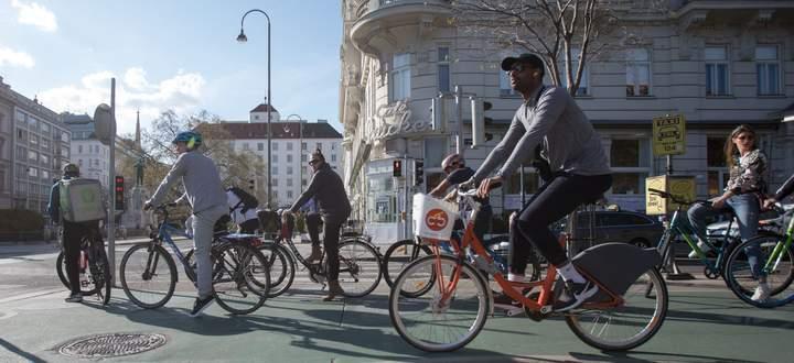 In Wien zählte man im Mai um 45 Prozent mehr Radfahrer als im Vergleichsmonat 2019.