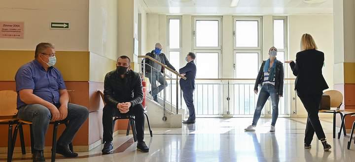 Sicherheitsvorkehrungen am Straflandesgericht Wien.