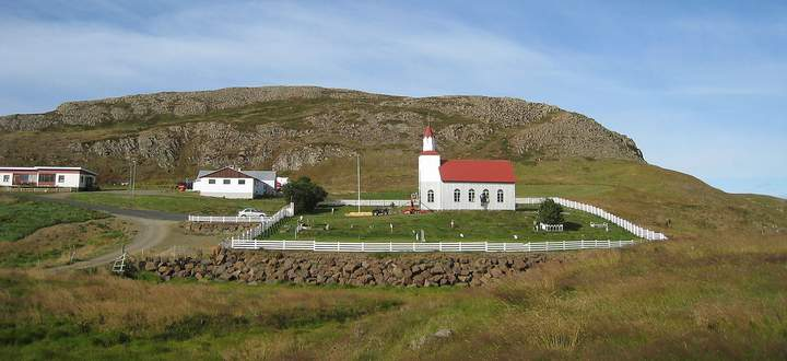 Der Heilige Berg Helgafell ist eigentlich ein Hügel.