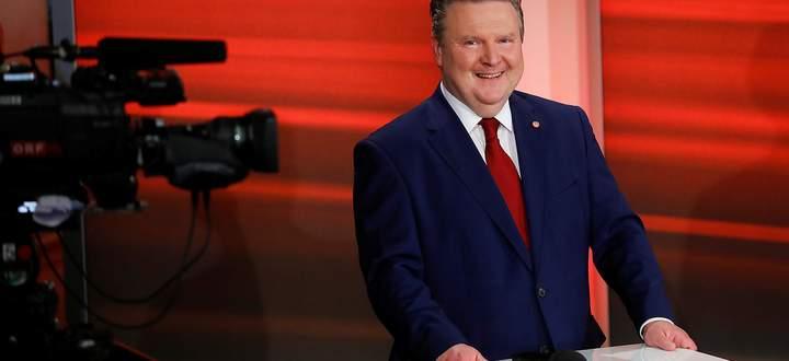Michael Ludwig bei seinem ersten TV-Auftritt nach der Wahl am Sonntag.