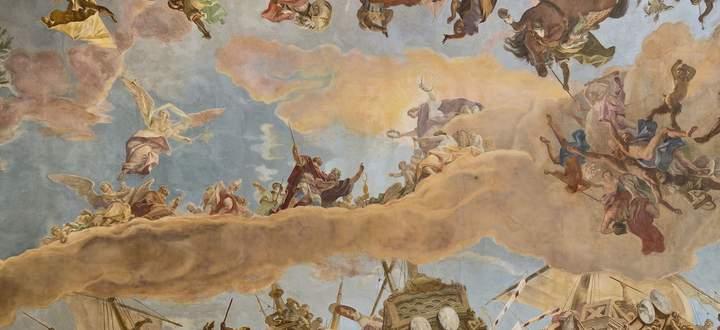 Von den Lastern gelöst auf dem Weg zur Tugend: der Läuterungsprozess des jungen Helden, dargestellt von Sebastiano Ricci.