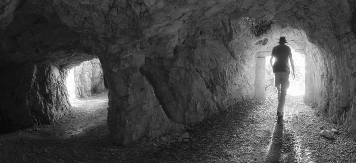 Heute Wanderweg: Militärstraße des Ersten Weltkriegs, Monte Pasubio.