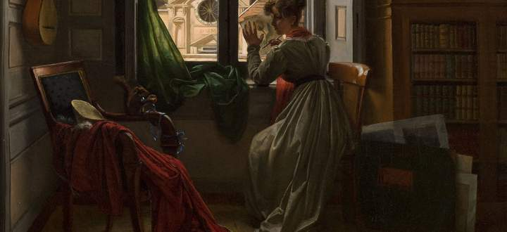Eingesperrt im Wohnzimmer. Für die bürgerlichen Frauen der Zeit tat sich das Fenster in die Öffentlichkeit nur wenig auf.