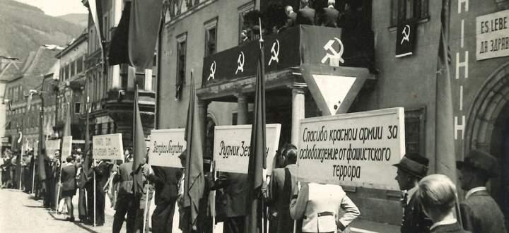 Befreiungsfeier in Leoben, Juni 1945.