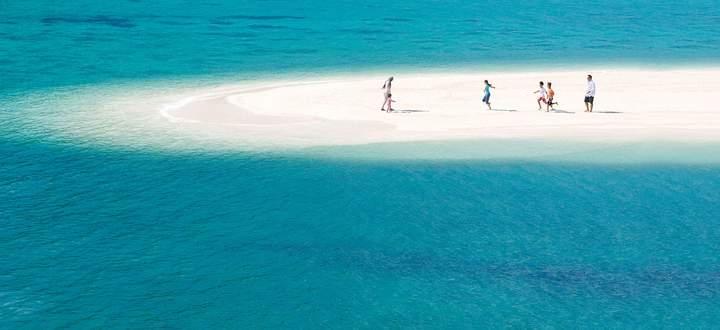 Jaradah Island, temporäres Eiland.