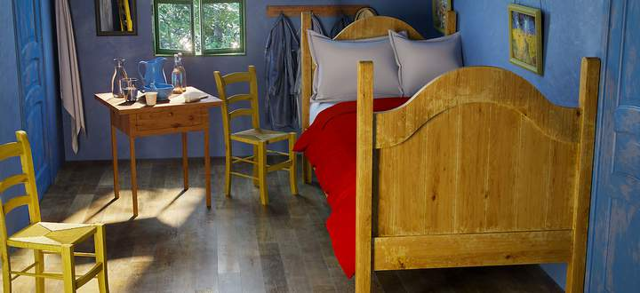 """The Bedroom"" Vincent Van Gogh"