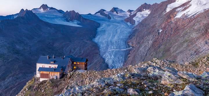 Auf Etappe sechs kommt man am Ramolhaus auf 3006 Metern Höhe vorbei.