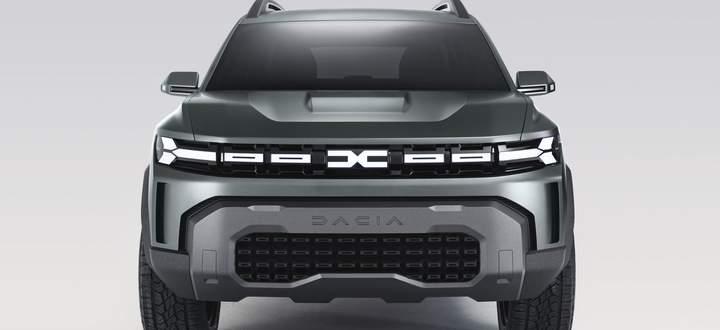 Groß im Kommen: Mit dem Konzept Bigster zeigt Dacia ein kommendes SUV – und gleich auch das neue Markenlogo.