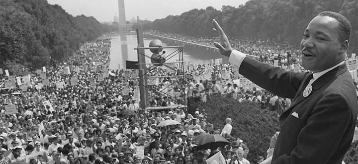 Martin Luther King bei seiner Rede am 28. August 1963.
