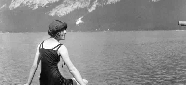 Harmonie in der Landschaft, aber nicht immer unter den Menschen: am Altausseersee 1925.