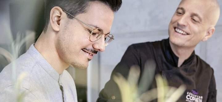 Eingespieltes Team: Ernährungswissenschaftler Niko Rittenau und Profikoch Sebastian Copien.