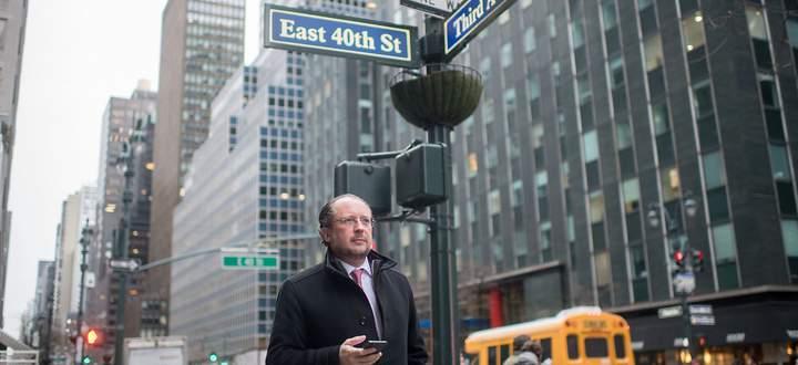 Alexander Schallenberg in New York ein paar Straßen vom Hauptquartier der Vereinten Nationen entfernt.