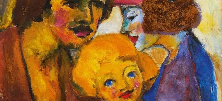 """Noch ein Traum des kinderlosen Noldes: """"Familienbild"""", 1947, Sammlung Johenning."""