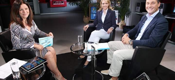Heinz-Christian Strache im ORF-Sommergespräch