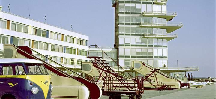 Die 1960er-Jahre: der Flughafen Wien-Schwechat.