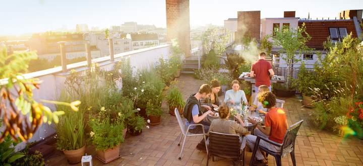 Terrassen werden größer, dann aber mit anderen gemeinsam genutzt.