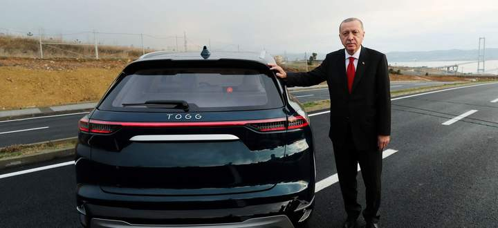 Auf den hält Präsident Erdoğan große Stücke: Prototyp eines türkischen Elektro-Modells.