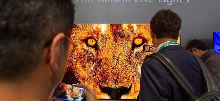 Ein 8K-Fernseher auf der Consumer Electronics Show (CES) in Las Vegas, aufgenommen vergangene Woche
