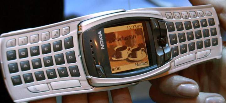 Phone maker Nokia showed off their new 6800 mobile phone November 18, 2002 at COMDEX in Las Vegas. T..