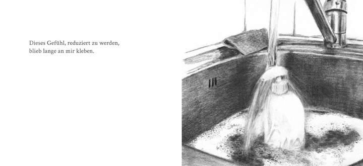 """""""Dieses Gefühl, reduziert zu werden, blieb lange an mir kleben."""" Aus Pascale Osterwalders """"Daily Soap""""."""