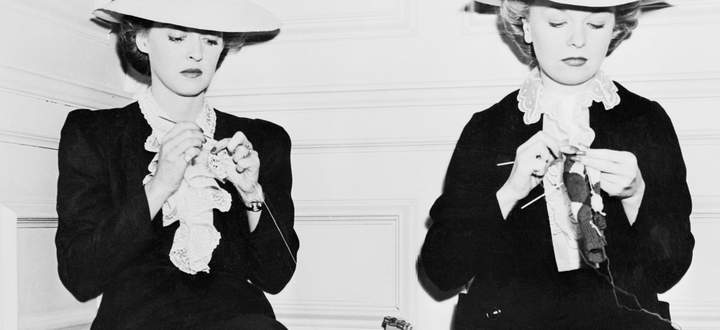 Wer ist echt? Die Schauspielerin Bette Davis (links) mit ihrem Double.