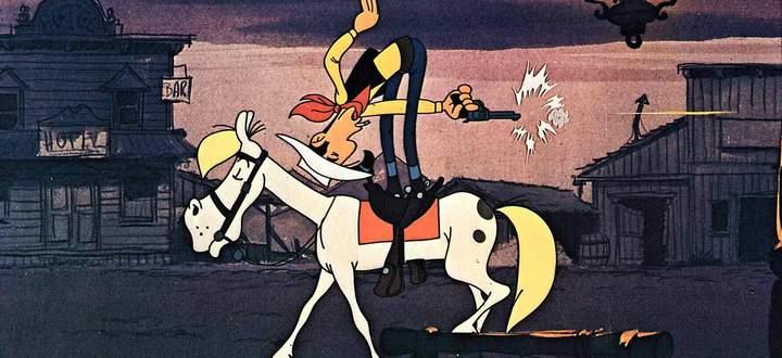 Lucky Luke und sein Pferd Jolly Jumper 1971 UnitedArchives01352674
