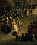 Zu steif, um lustig zu sein: Darstellung eines Hofballs von 1604, gemalt von Marten Pepyn.
