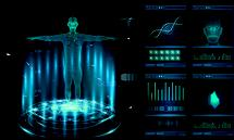 Hud element ui medical examination. Display set of virtual interface elements. Modern medical examination