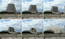 Deutschland räumt mit seiner Atomenergie auf. Im Bild der Abriss des AKW Muelheim-Kaerlich