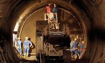Archivbild aus einer früheren Bauphase des Semmering-Basistunnels.