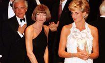 Prinzessin Diana mit Ralph Lauren und Anna Wintour.