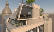 Viel Glas dominiert das Projekt von AW Architekten in der Siebensterngasse in Wien.