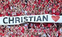 Unterstützungsplakat für Christian Eriksen