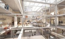 Universitäten sind auch Orte des informellen Wissensaustauschs. Die Architektur muss dafür Räume schaffen wie auf dem Campus West der JKU.
