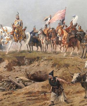 Großfürst Arpád führte sein ungarisches Volk um 900 in die pannonische Tiefebene. Ihre Kriegszüge machten Europa Angst.