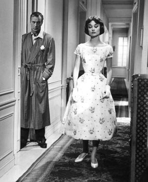 """Louis Vuitton-Koffer in """"Love In The Afternoon"""" mit Audrey Hepburn und Gary Cooper, 1957"""