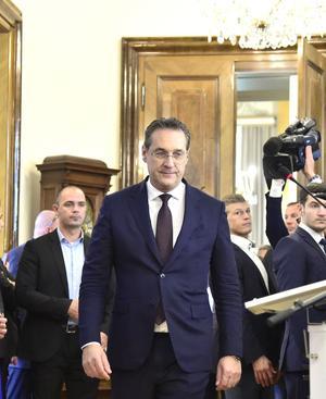 Heinz-Christian Strache (FPÖ) am Samstag, 18. Mai 2019, im Bundeskanzleramt in Wien.