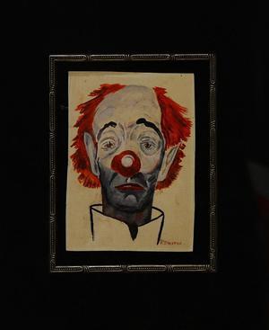 """Der """"traurige Clown"""" ist ein Selbstporträt von Frank Sinatra, das 2013 bei Christie's versteigert wurde."""
