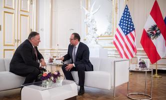 Pompeo und Schallenberg sprachen im Belvedere über aktuelle außenpolitische Konfliktherde.