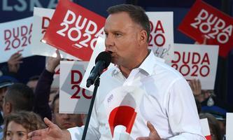 Andrzej Duda geht am Sonntag in die Stichwahl.