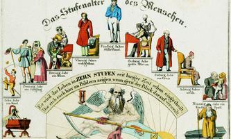 Lebenstreppe, gezeichnet um 1840